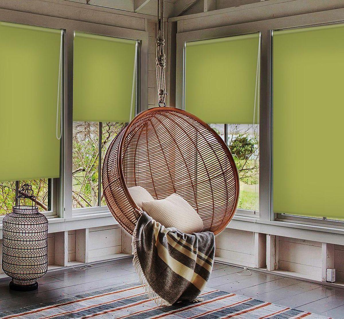 """Рулонными шторами Эскар """"Миниролло. Blackout"""" можно оформлять окна как самостоятельно, так и использовать в комбинации с портьерами. Это поможет предотвратить выгорание дорогой ткани на солнце и соединит функционал рулонных с красотой навесных.  Преимущества применения рулонных штор для пластиковых окон:  - имеют прекрасный внешний вид: многообразие и фактурность материала изделия отлично смотрятся в любом интерьере; - многофункциональны: есть возможность подобрать шторы способные эффективно защитить комнату от солнца, при этом она не будет слишком темной.  - Есть возможность осуществить быстрый монтаж.  ВНИМАНИЕ! Размеры ширины изделия указаны по ширине ткани!  Во время эксплуатации не рекомендуется полностью разматывать рулон, чтобы не оторвать ткань от намоточного вала.  В случае загрязнения поверхности ткани, чистку шторы проводят одним из способов, в зависимости от типа загрязнения: легкое поверхностное загрязнение можно удалить при помощи канцелярского ластика; чистка от пыли производится сухим методом при помощи пылесоса с мягкой щеткой-насадкой; для удаления пятна используйте мягкую губку с пенообразующим неагрессивным моющим средством или пятновыводитель на натуральной основе (нельзя применять растворители)."""
