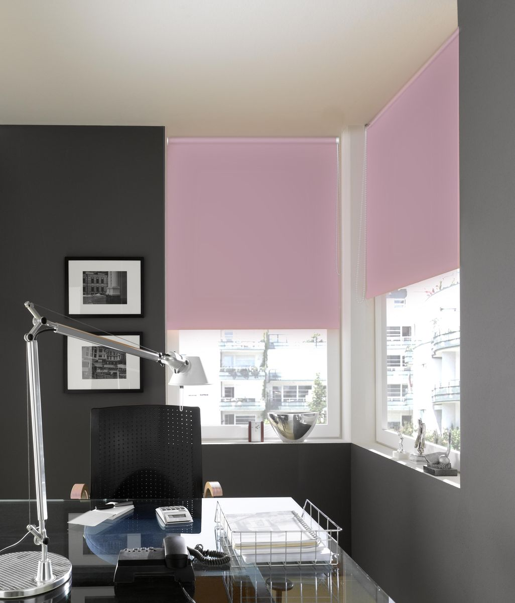 """Рулонными шторами Эскар """"Миниролло. Blackout"""" можно оформлять окна как самостоятельно, так и использовать в комбинации с портьерами. Это поможет предотвратить выгорание дорогой ткани на солнце и соединит функционал рулонных с красотой навесных.  Преимущества применения рулонных штор для пластиковых окон:  - имеют прекрасный внешний вид: многообразие и фактурность материала изделия отлично смотрятся в любом интерьере; - многофункциональны: есть возможность подобрать шторы способные эффективно защитить комнату от солнца, при этом она не будет слишком темной;   - есть возможность осуществить быстрый монтаж. ВНИМАНИЕ! Размеры ширины изделия указаны по ширине ткани!  Во время эксплуатации не рекомендуется полностью разматывать рулон, чтобы не оторвать ткань от намоточного вала.  В случае загрязнения поверхности ткани, чистку шторы проводят одним из способов, в зависимости от типа загрязнения: легкое поверхностное загрязнение можно удалить при помощи канцелярского ластика; чистка от пыли производится сухим методом при помощи пылесоса с мягкой щеткой-насадкой; для удаления пятна используйте мягкую губку с пенообразующим неагрессивным моющим средством или пятновыводитель на натуральной основе (нельзя применять растворители)."""