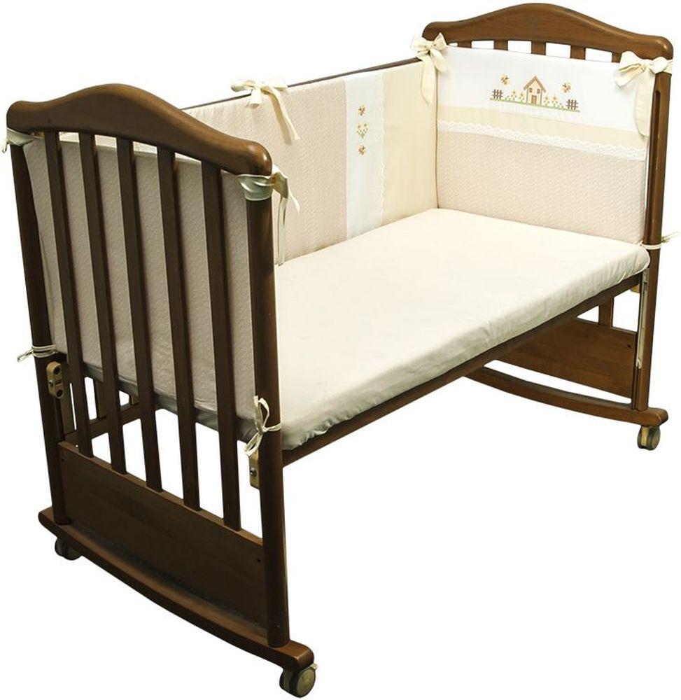 Сонный гномик Бортик для кровати Кантри цвет бежевый - Детская комната