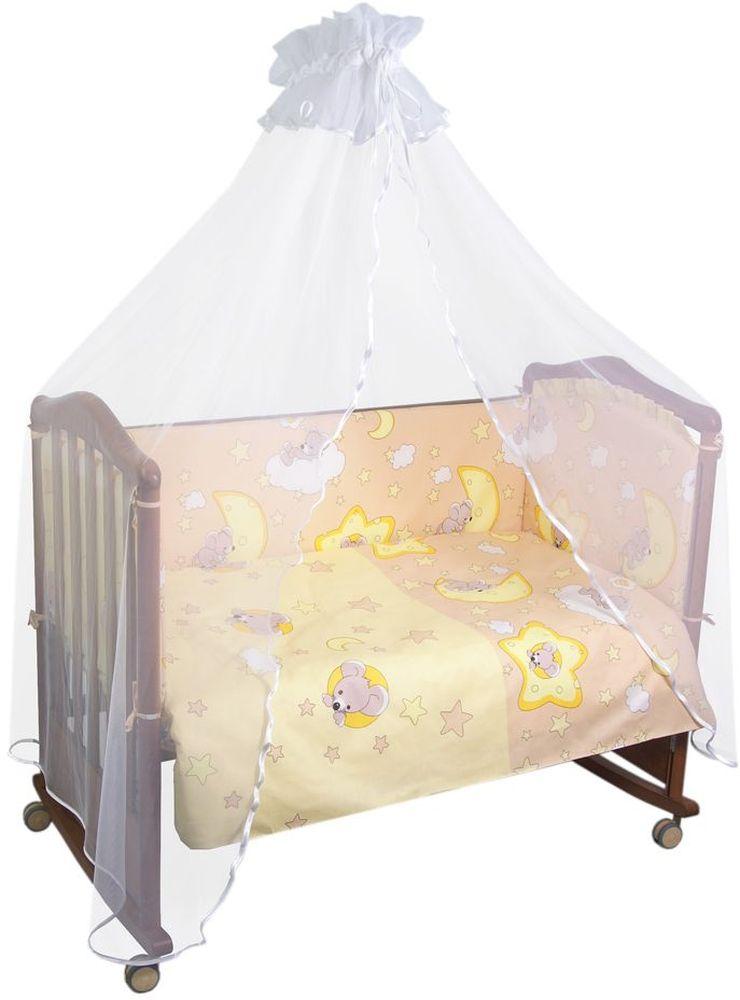 Сонный гномик Бортик для кровати Сыроежкины сны цвет бежевый