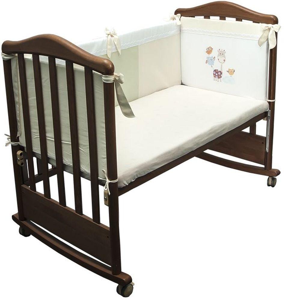 Сонный гномик Бортик для кровати Пикник цвет слоновая кость