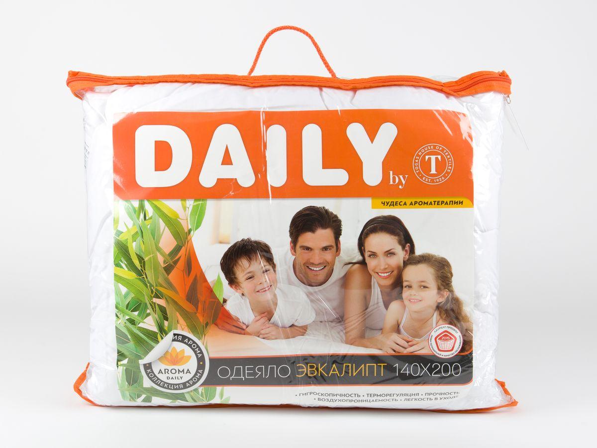 Одеяло Daily by Togas Эвкалипт, наполнитель: полиэфирное волокно, цвет: белый, 140 х 200 см одеяла togas одеяло гелиос 220х240 см