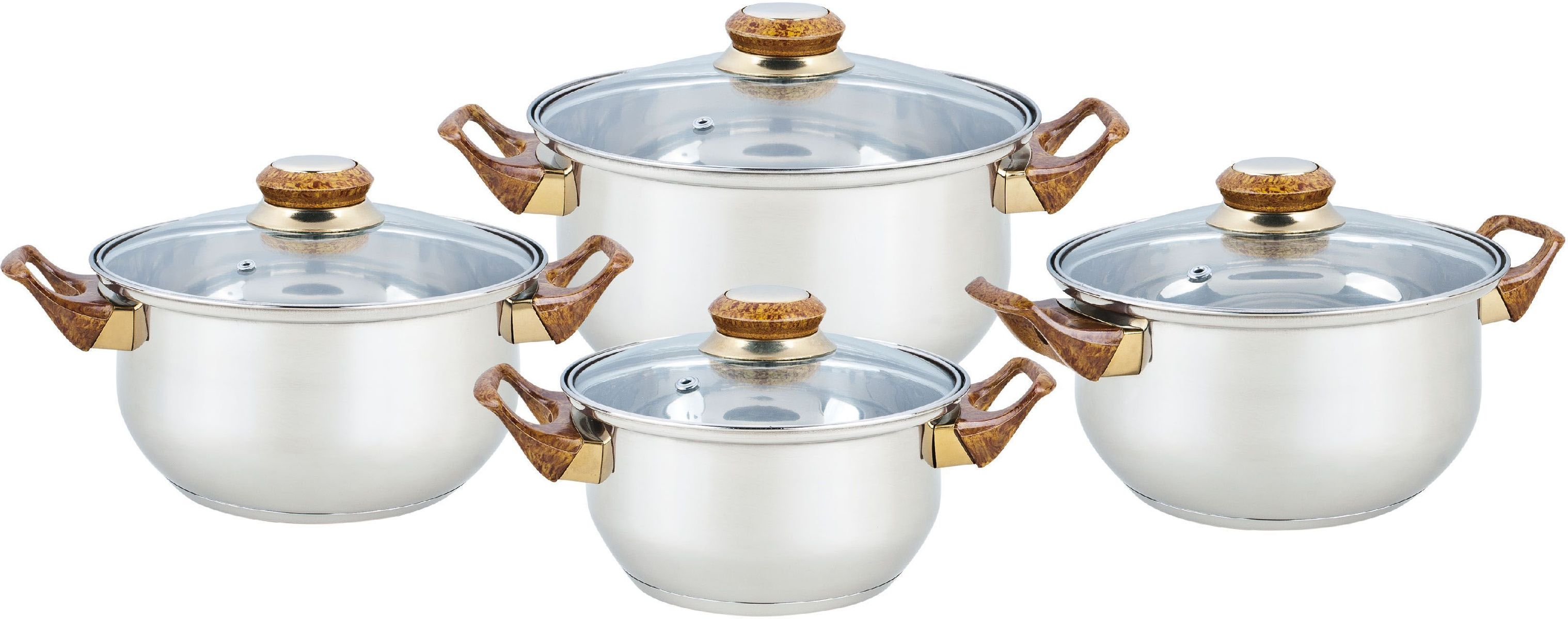 Набор посуды Bekker Classic, 8 предметов. BK-4604 набор посуды bekker classic 9 предметов bk 4605