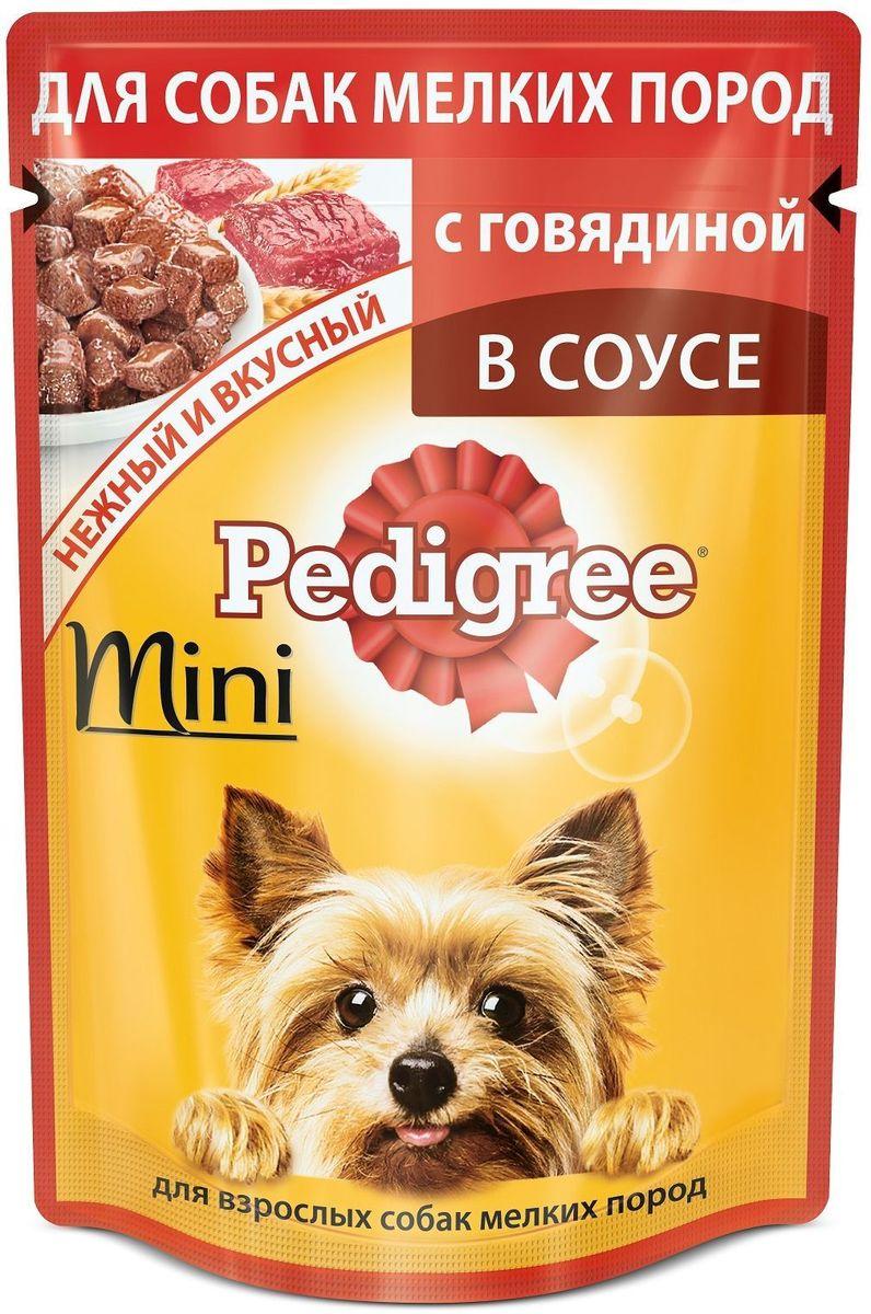 Консервы Pedigree, для взрослых собак мелких пород, с говядиной, 85 г корм для взрослых собак малых пород pedigree с говядиной 2 2 кг