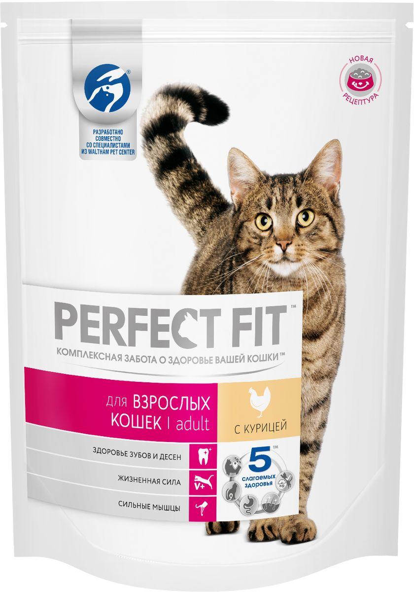 Корм сухой Perfect Fit, для взрослых кошек, с курицей, 190 гDkBs50pВ Perfect Fit учтены все потребности взрослых кошек, которым важно оставаться в тонусе. Особая комбинация белков, минералов и витаминов поддержит силу мышц и подарит кошке энергию для активного времяпрепровождения.Вашу кошку следует кормить кормом комнатной температуры. Товар сертифицирован.