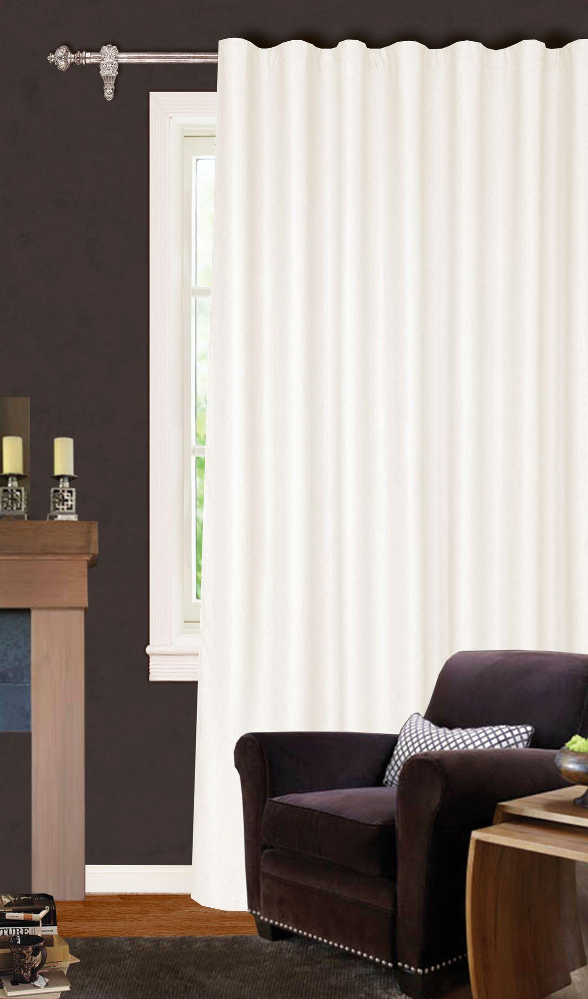 Штора Garden, на ленте, цвет: экрю, высота 260 см. С W1223 V71173704493Изящная штора для гостиной Garden выполнена из ткани с оригинальной структурой. Приятная текстура и цвет штор привлекут к себе внимание и органично впишутся в интерьер помещения. Штора крепится на карниз при помощи ленты, которая поможет красиво и равномерно задрапировать верх.