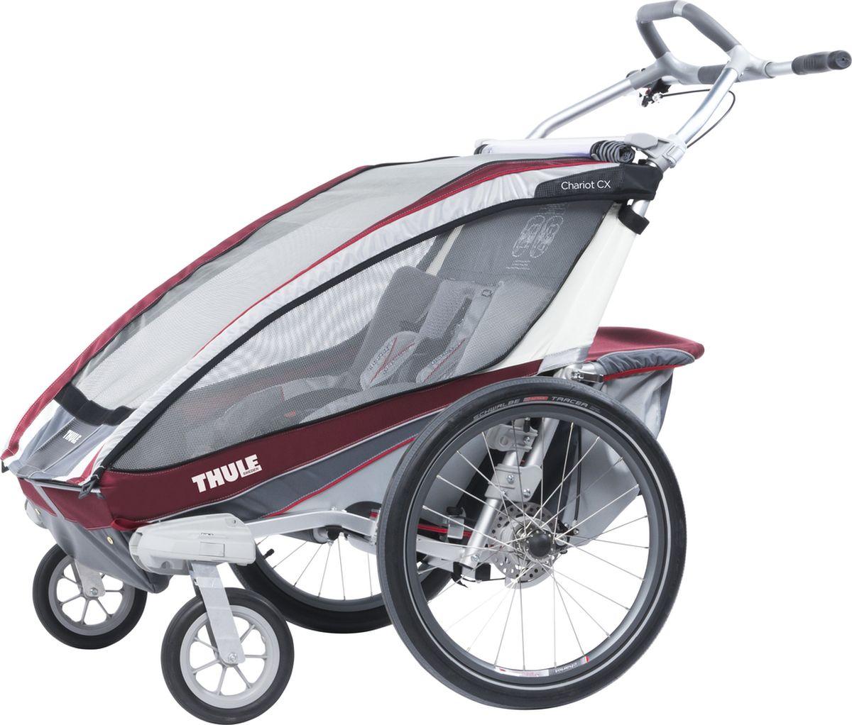 Thule Коляска-трансформер Chariot CX 2 цвет бордовый - Коляски и аксессуары