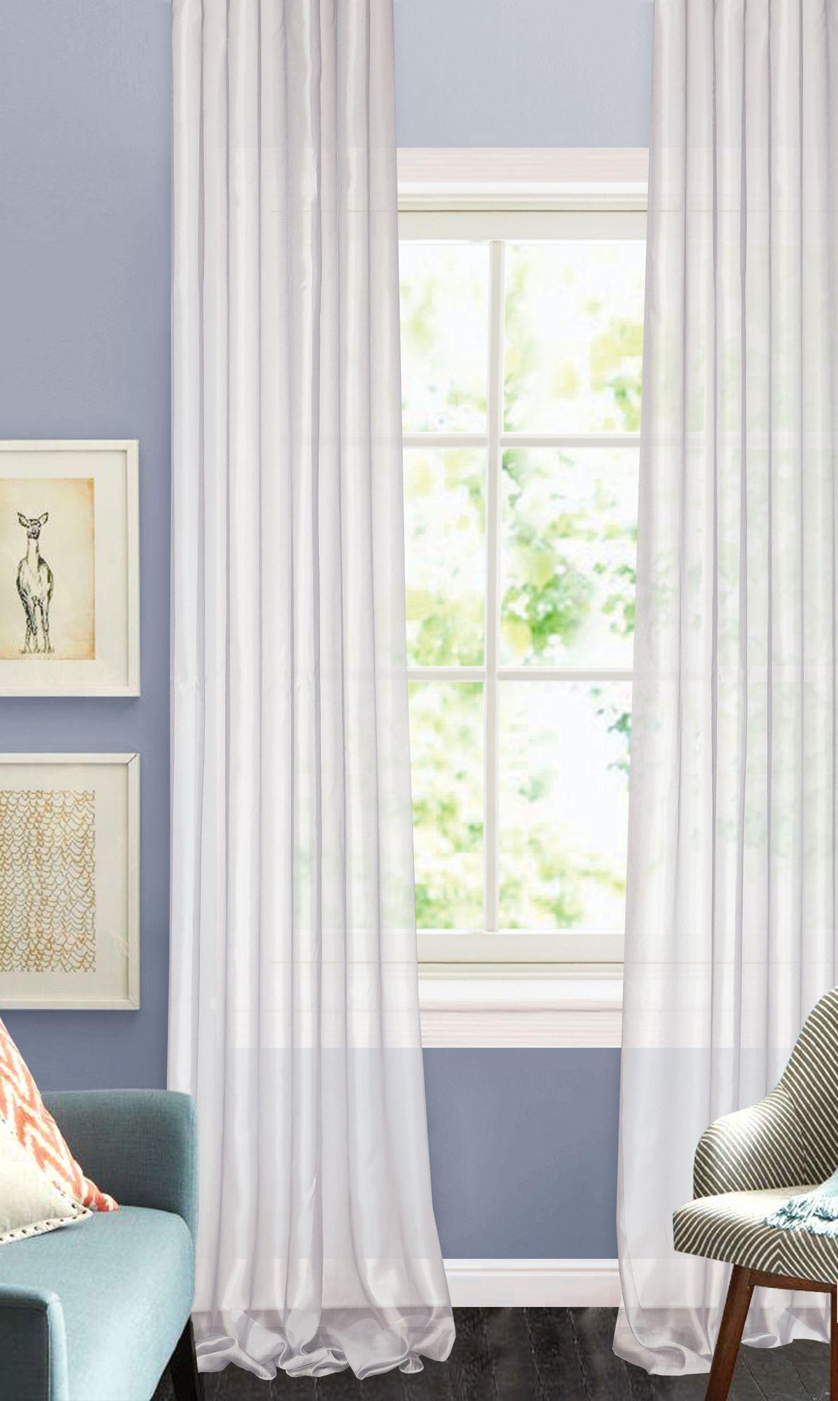 "Штора готовая ""Garden"", на ленте, цвет: бледно-сиреневый, 450 х 270 см. С W875 450х270 V30"