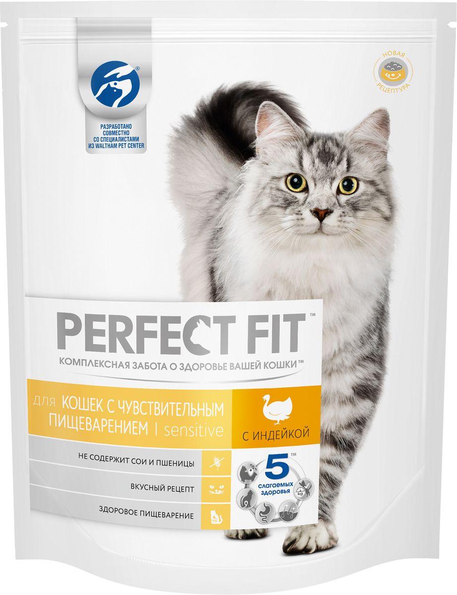 Корм сухой Perfect Fit, для кошек с чувствительным пищеварением, с индейкой, 1,2 кг42741Perfect Fit - рацион, адаптированный специально для кошек с особенностями пищеварения. Он содержит пребиотики, способствующие поддержанию здоровой микрофлоры кишечника, и не содержит пшеницы и сои, которые могут вызвать дискомфорт в желудке кошки.Вашу кошку следует кормить кормом комнатной температуры.Товар сертифицирован.