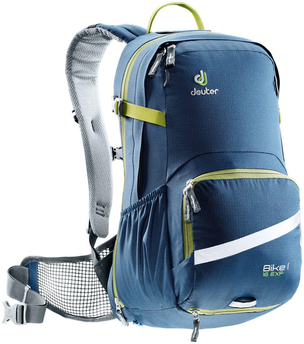 Рюкзак Deuter Bike I Air EXP 16, цвет: хаки, темно-синий, 16 л рюкзак deuter bike compact exp 10 sl blueberry mint