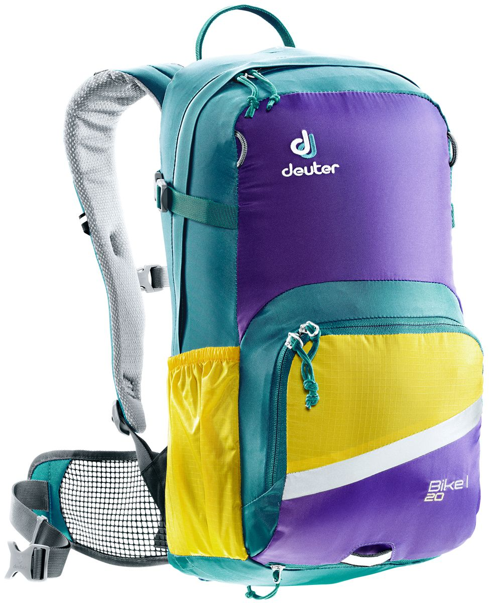 Рюкзак Deuter Bike I 20, цвет: голубой, фиолетовый, 20 л велорюкзак с отделением для ноутбука deuter giga bike 28 л 80444 3980 сине голубой