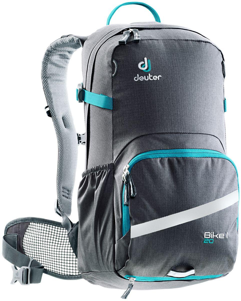 Рюкзак Deuter Bike I 20, цвет: темно-серый, 20 л велорюкзак deuter giga bike с отделением для ноутбука 28 л 80444 3980 сине голубой