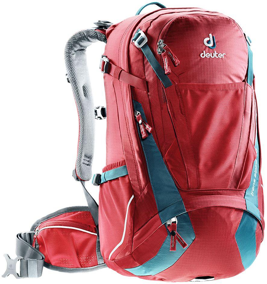 Рюкзак Deuter Trans Alpine 30, цвет: бордовый, 30 л велорюкзак с отделением для ноутбука deuter giga bike 28 л 80444 3980 сине голубой