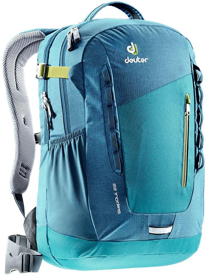 Рюкзак Deuter Daypacks StepOut 22, цвет: бирюзовый, синий, 22 л deuter futura 22