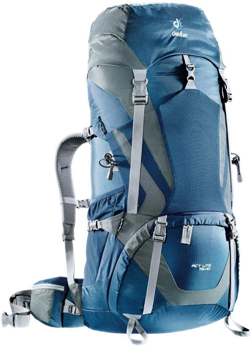 Рюкзак Deuter ACT Lite 75+10, цвет: серый, синий, 75 л deuter act lite 45 10 sl