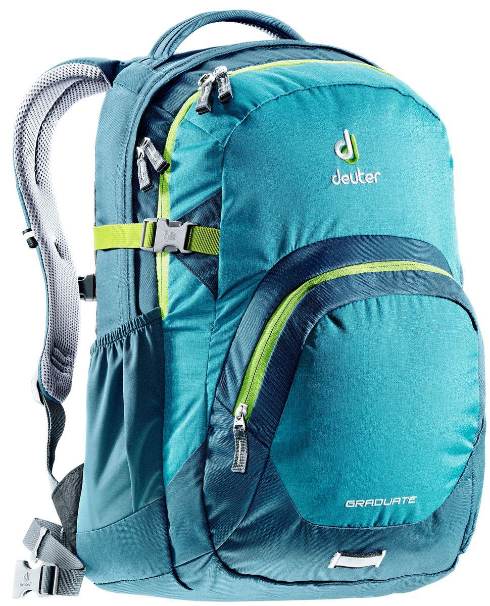 Рюкзак Deuter Daypacks Graduate, цвет: бирюзовый, темно-бирюзовый, 28 л рюкзак deuter daypacks giga pro midnight dresscode