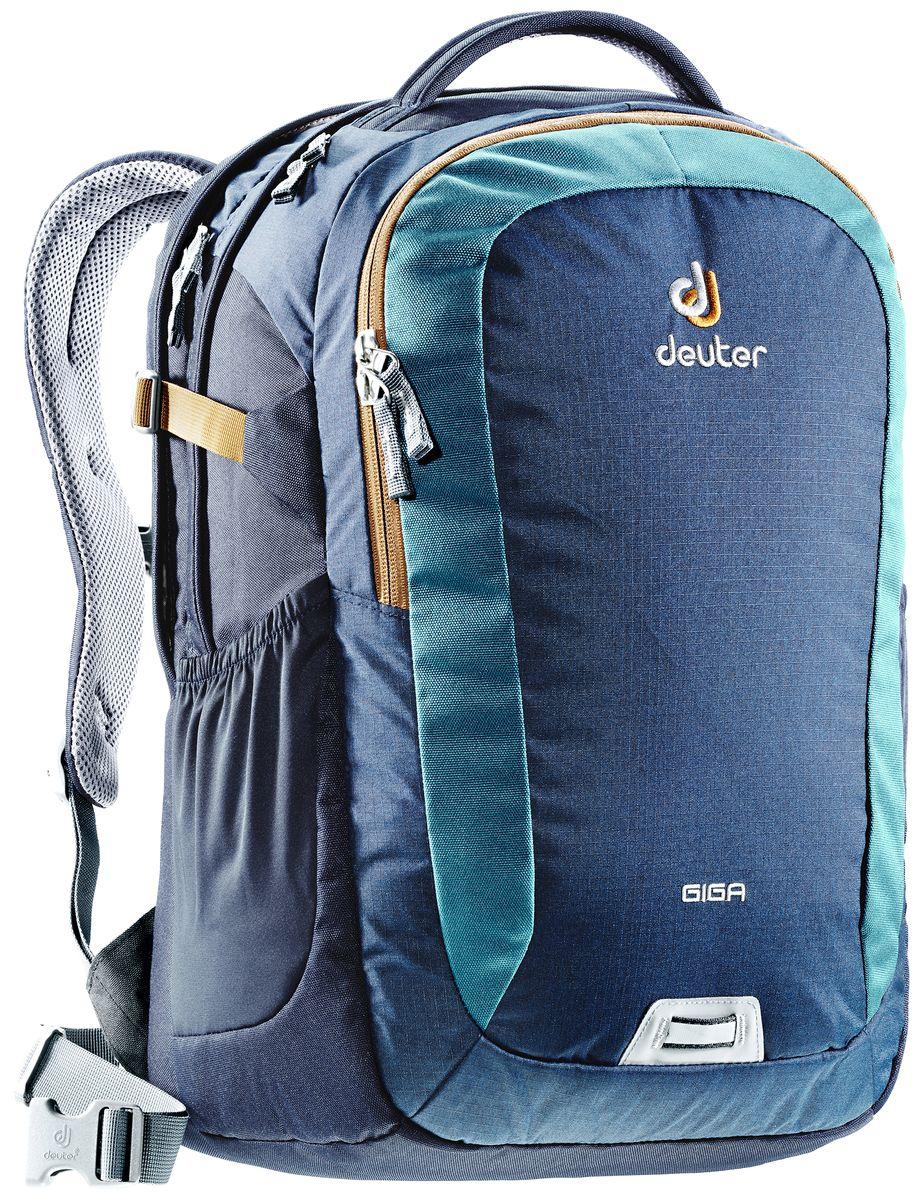 Рюкзак Deuter Daypacks Giga, цвет: синий, бирюзовый, 28 л городской рюкзак deuter giga с отделением для ноутбука серый 28 л 80414 7712