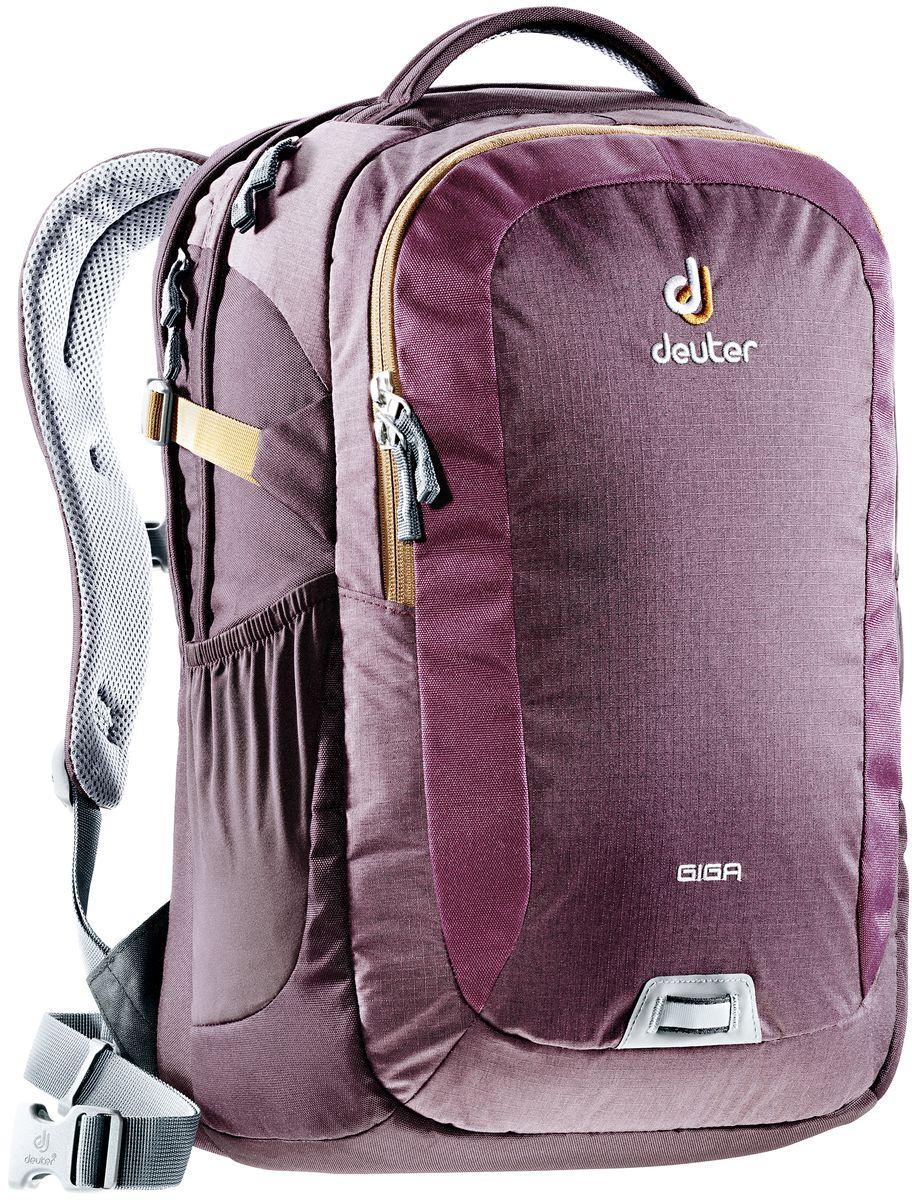 Рюкзак Deuter Daypacks Giga, цвет: коричневый, фиолетовый, 28 л рюкзак deuter daypacks giga aubergine check б р uni
