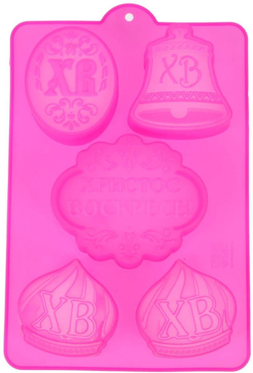Форма для выпечки Христос Воскресе, цвет: розовый, 27 х 16,7 см. 10322341032234Форма для выпечки Христос Воскресе, выполненная из силикона, будет отличным выбором для всех любителей домашней выпечки. Силиконовые формы для выпечки имеют множество преимуществ по сравнению с традиционными металлическими формами и противнями. Нет необходимости смазывать форму маслом. Она быстро нагревается, равномерно пропекает, не допускает подгорания выпечки с краев или снизу. Вынимать продукты из формы очень легко. Слегка выверните края формы или оттяните в сторону, и ваша выпечка легко выскользнет из формы.