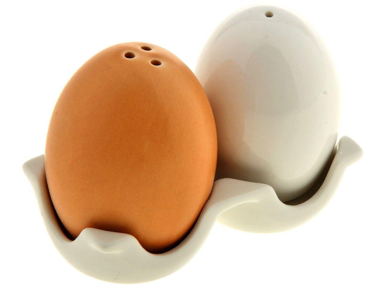 "Набор для специй ""Яйца"", на подставке, 2 предмета. 110220"