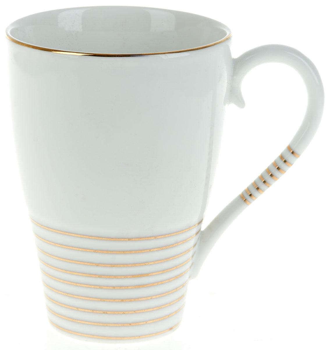 Кружка BHP Грация, 430 млM1490111Оригинальная кружка Best Home Porcelain, выполненная из высококачественного фарфора, сочетает в себе простой, утонченный дизайн с максимальной функциональностью. Оригинальность оформления придется по вкусу тем, кто ценит индивидуальность.Можно использовать в посудомоечной машине.