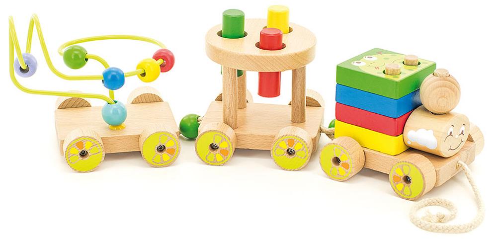 Игрушки из дерева Развивающая игрушка Паровозик Чух-чух развивающая игрушка умка обучающий паровозик из ромашково
