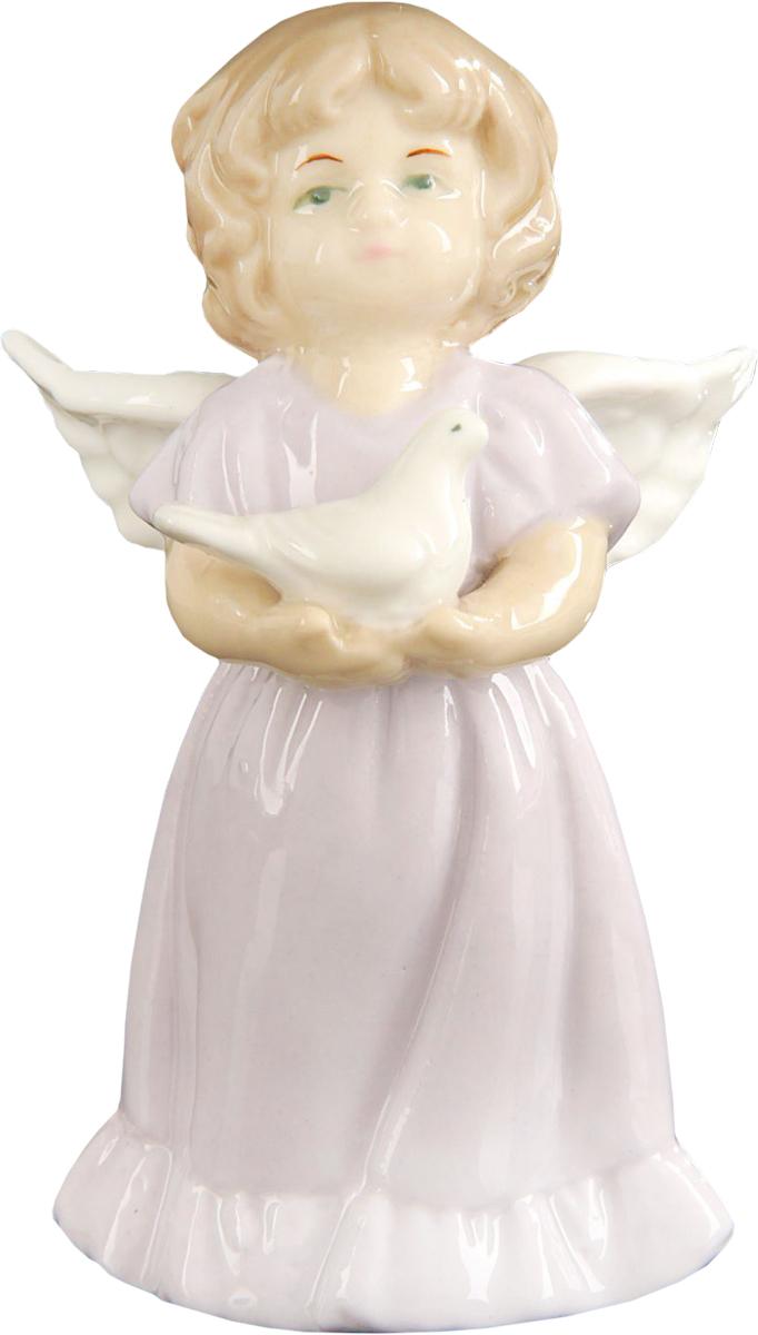 Сувенир пасхальный Sima-land Ангелочек с голубем, 7,5 х 5 х 4 см сувенир пасхальный sima land ангел с розочкой на платье 13 х 8 х 6 см
