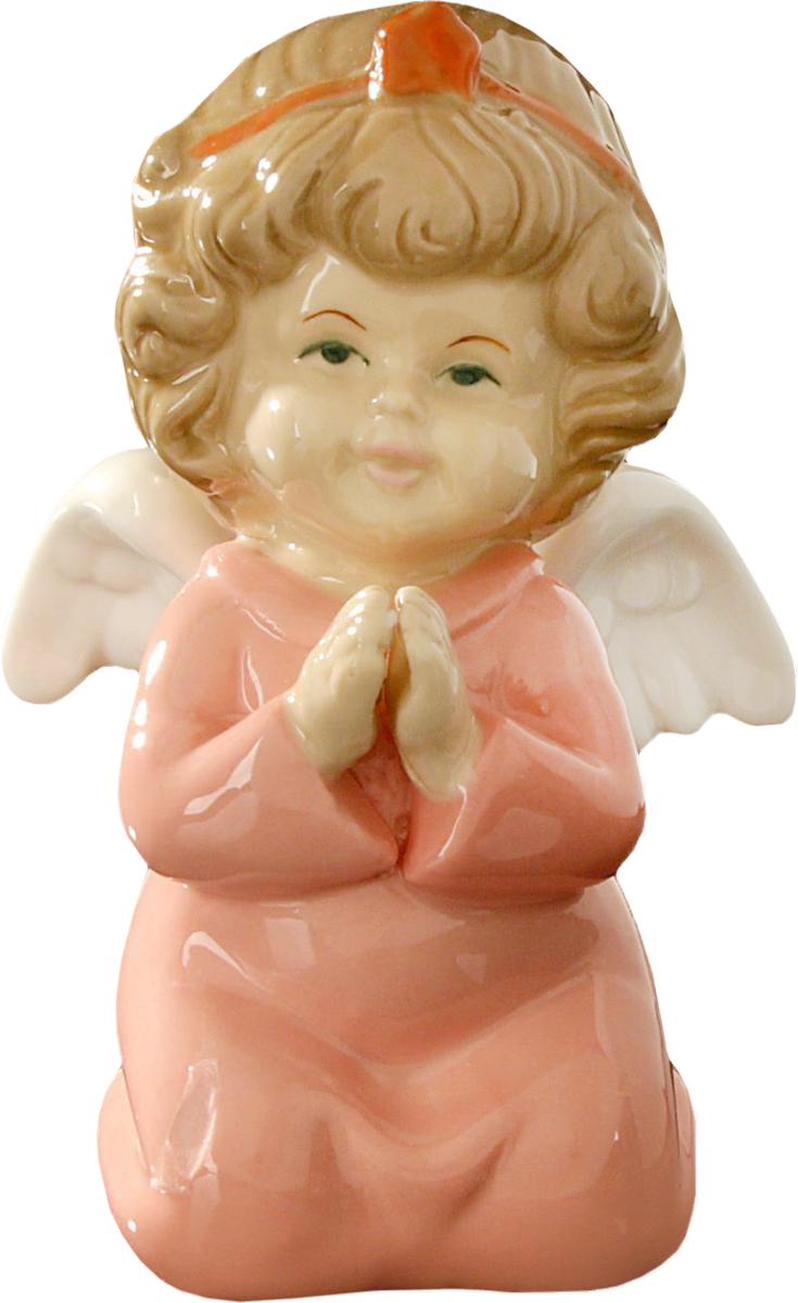 Сувенир пасхальный Sima-land Ангелочек молитва в розовой одежке, 11 х 7 х 8 см сувенир sima land обезьянка в шарфике цвет желтый 7 х 5 7 х 8 5 см
