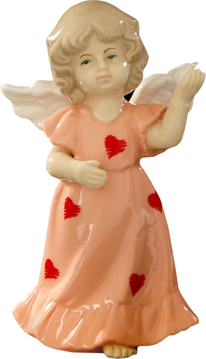 Сувенир пасхальный Sima-land Ангел в платьице в сердечках, 13 х 8 х 6 см