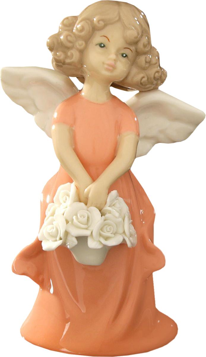 Сувенир пасхальный Sima-land Ангелочек-девочка с корзинкой белых роз, 14 х 5 х 8 см сувенир пасхальный sima land ангел с розочкой на платье 13 х 8 х 6 см