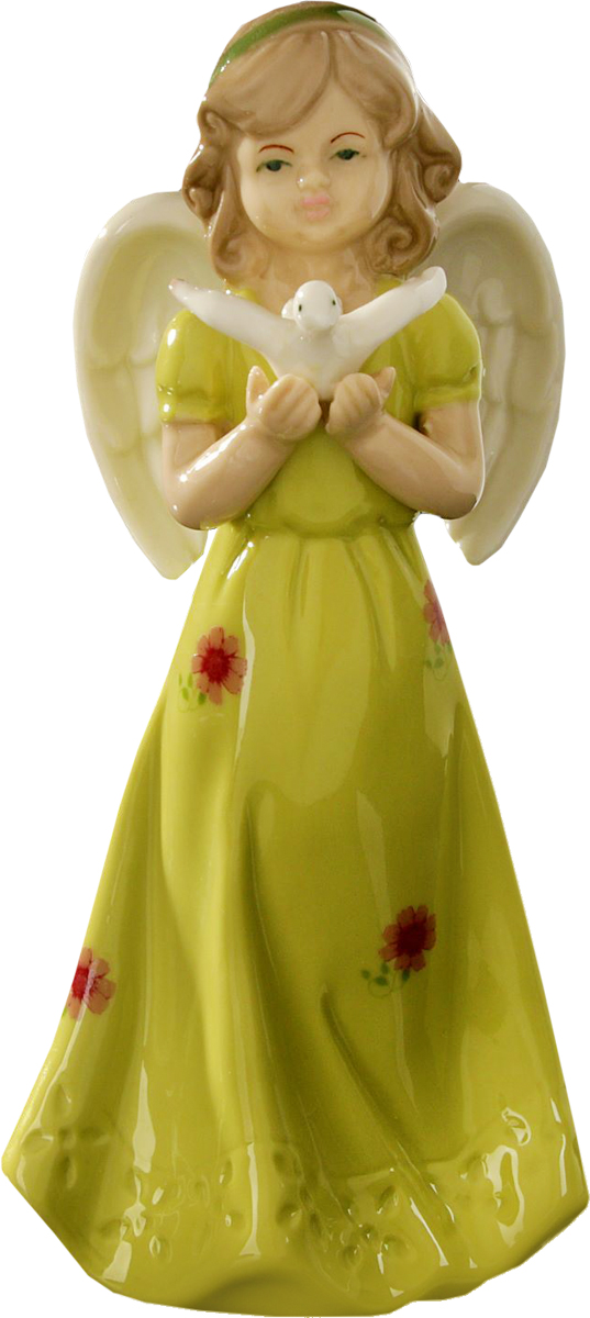 Сувенир пасхальный Sima-land Ангел запускающий голубя, 18 х 7,5 х 6 см свеча ароматизированная sima land лимон на подставке высота 6 см