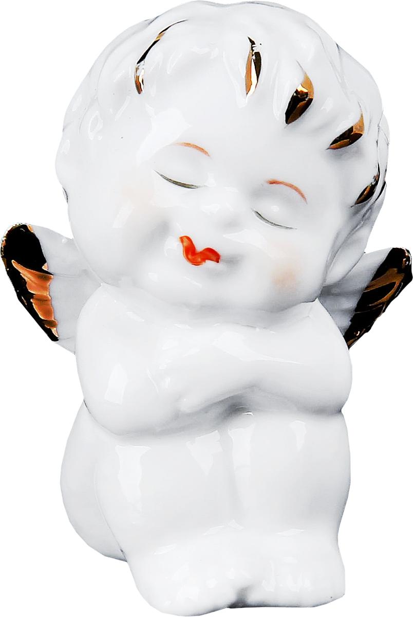 Сувенир пасхальный Sima-land Ангелочек золотце мечтатель, 3,5 х 4,5 х 6 см сувенир пасхальный sima land ангел с розочкой на платье 13 х 8 х 6 см
