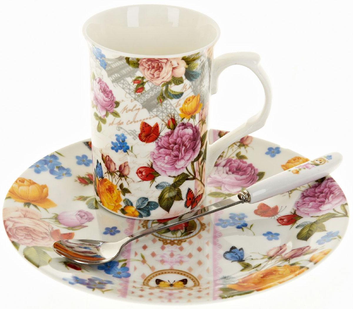 Чайная пара Nouvelle De France Лето в Европе, с ложкой, 3 предметаM0661286Оригинальная фарфоровая кружка Nouvelle с ложкой и десертная тарелка, выполнены из высококачественной керамики, сочетают в себе изысканный дизайн с максимальной функциональностью.Красочность оформления кружки придется по вкусу и ценителям классики, и тем, кто предпочитает утонченность и изысканность.В комплект входит кружка, ложка и десертная тарелка. Можно использовать в ПММ.