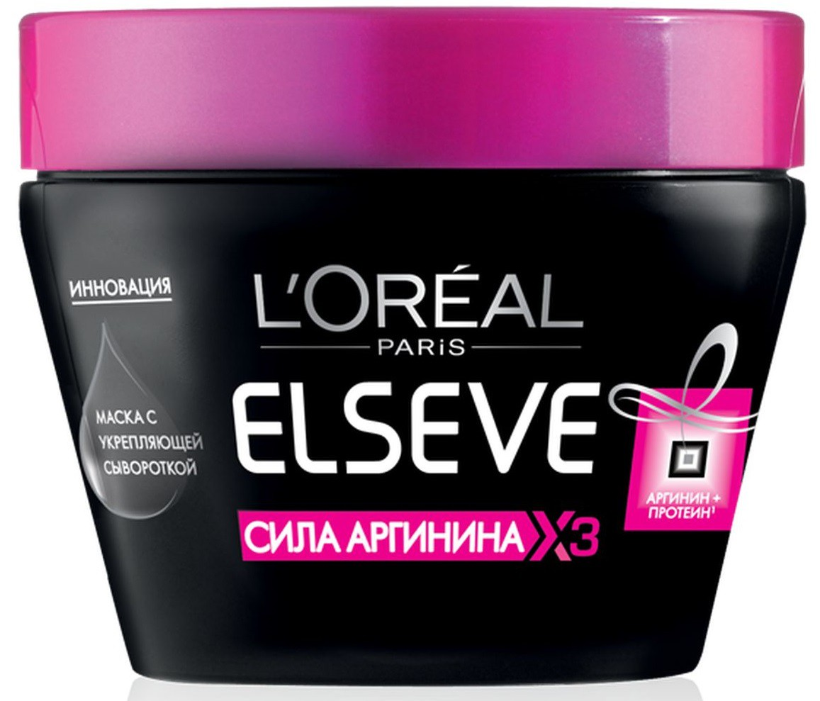 LOreal Paris Elseve Маска для волос Эльсев, Сила Аргинина х3, с укрепляющей сывороткой, 300 млA6294125С маской «Эльсев, Сила Аргинина х3» волосы будут расти сильными! В основе уникальной формулы средства лежит Аргинин — аминокислота, отвечающая за рост волос. Маска для волос одновременно действует в трёх направлениях: интенсивно питает волосяные луковицы, укрепляет корни и стимулирует рост волос.