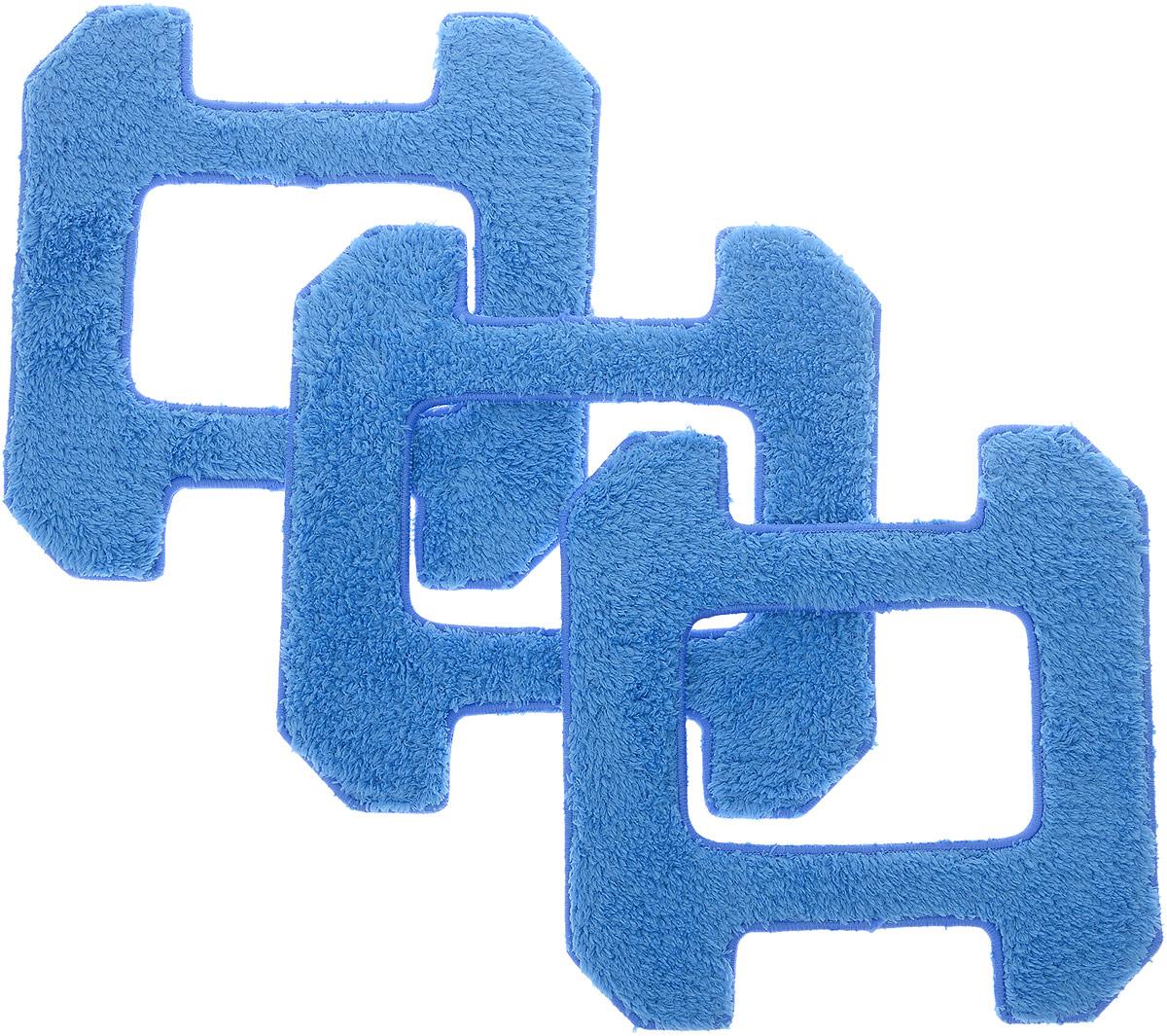 Hobot 268, Blue чистящие салфетки для сухой уборки, 3 шт салфетки для уборки vetta салфетка из микрофибры длинный ворс 30х40см