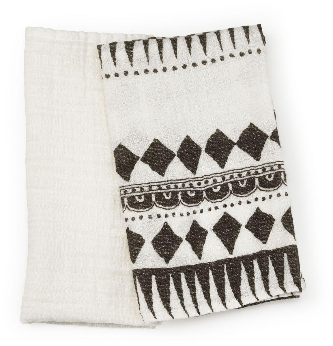 """Плед Elodie Details """"Graphic Devotion"""" - невесомые муслиновые пеленки незаменимы в теплое время года. Легкая двухслойная ткань из бамбукового волокна прекрасно пропускает воздух, позволяя коже ребенка дышать, и впитывает лишнюю влагу. Пеленки можно использовать в качестве легкого летнего пледа - дома и на прогулке, а также накрывать коляску от прямых солнечных лучей."""