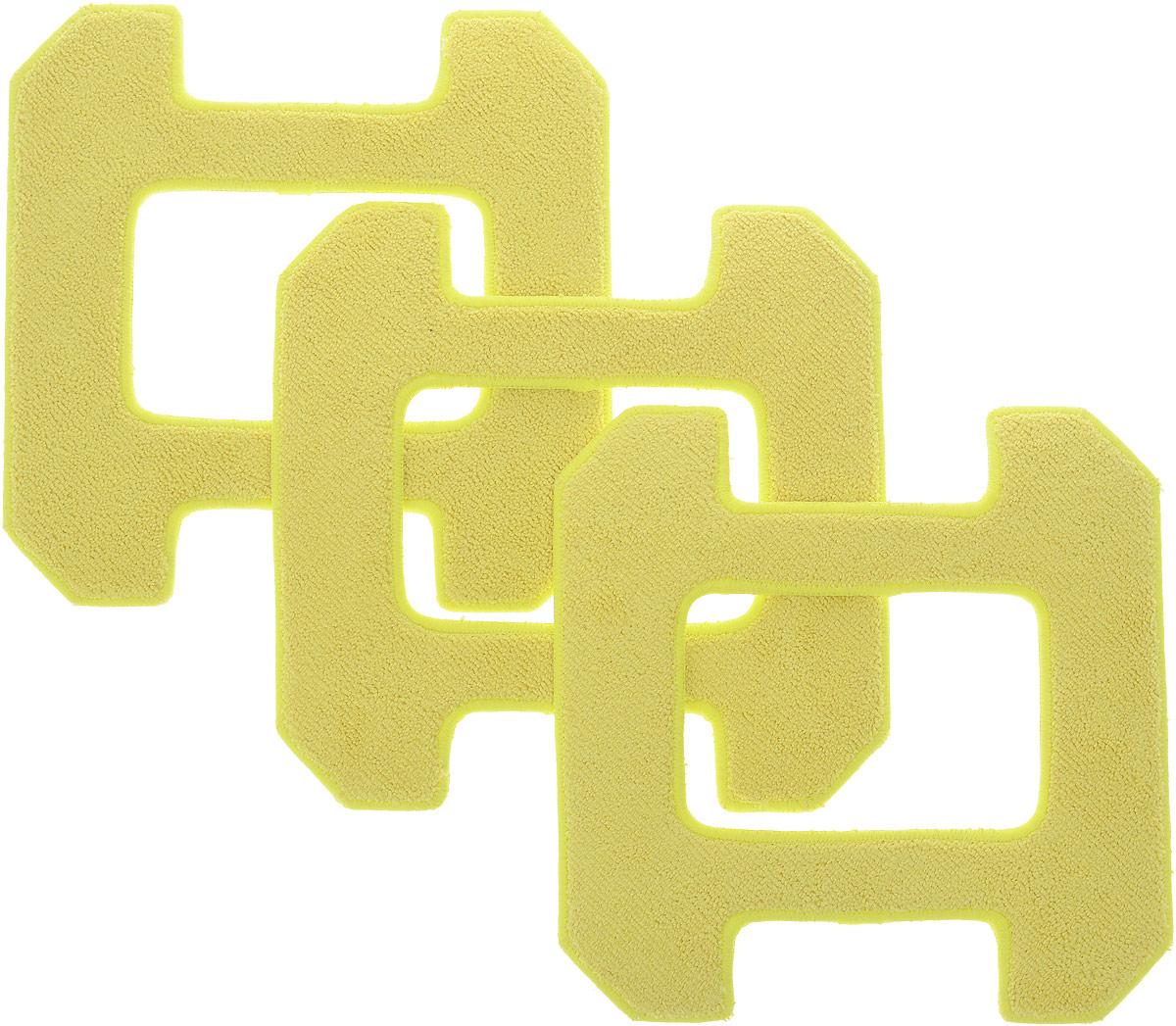Hobot 268, Yellow чистящие салфетки для влажной уборки, 3 штHB 268A02Комплект запасных салфеток из микрофибры (3 штуки) для влажной уборки для Hobot 268. Салфетки из микрофибры очищают поверхность, впитывают чистящий раствор для качественной очистки окон и зеркал и эффективно убирают грязь в порах. Отлично очищают поверхность даже по краям.