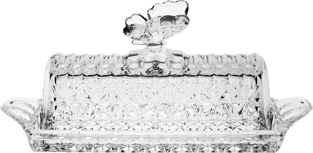Масленка Crystal Bohemia, 20,5 см. БПХ564930/52750/1/65400/205-109Масленка Crystal Bohemia выполнена из прочного высококачественного хрусталя. Она излучает приятный блеск и издает мелодичный звон. Масленка сочетает в себе изысканный дизайн с максимальной функциональностью. Масленка не только украсит дом и подчеркнет ваш прекрасный вкус, но и станет отличным подарком.