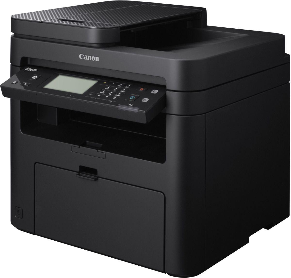 Canon i-SENSYS MF237w МФУ1418C121Монохромный лазерный принтер Canon I-SENSYS MF237w с широкими возможностями подключения для небольших офисов.Высокая скорость и безупречное качество монохромной печати, сенсорный дисплей и функции печати, сканирования и факса делают принтер идеальным решением для небольшого предприятия или домашнего офиса.Удаленный пользовательский интерфейс (RUI) позволяет получать доступ к информации принтера, менять настройки сети, настраивать адресные книги и проверять уровень тонера.Эко-отчеты позволяют отслеживать использование и состояние устройства, а функция автоматического отключения и энергосберегающие режимы помогают свести к минимуму углеродный след.Поддержка Mopria, Apple AirPrint, Google Cloud Print и приложения Canon PRINT Business позволяет печатать документы со смартфонов, планшетов, ноутбуков и настольных компьютеров.Технология Canon Quick-First Print позволяет устройству быстро начать работу после выхода из спящего режима, а скорость печати 23 стр/ мин обеспечивает высокую производительность работы.Картриджи Все в одном Canon гарантируют превосходное качество монохромных документов и изображений. Неизменная надежность и качество благодаря легко заменяемым картриджам.Струйный или лазерный принтер: какой лучше? Статья OZON Гид