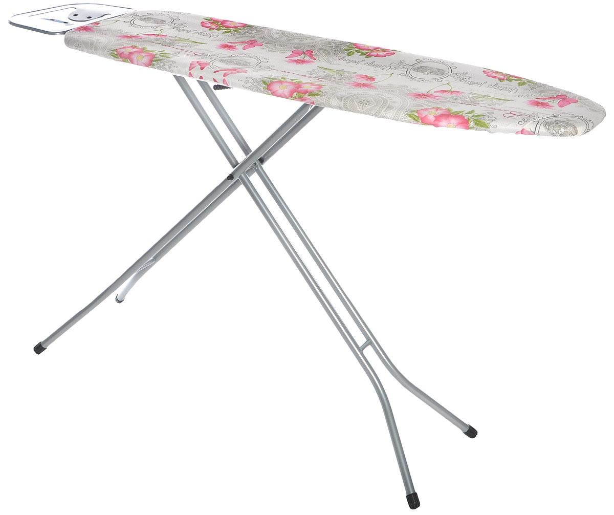 """Доска гладильная Hausmann """"Smart"""", цвет: белый, серый, розовый, 110 х 33 см"""