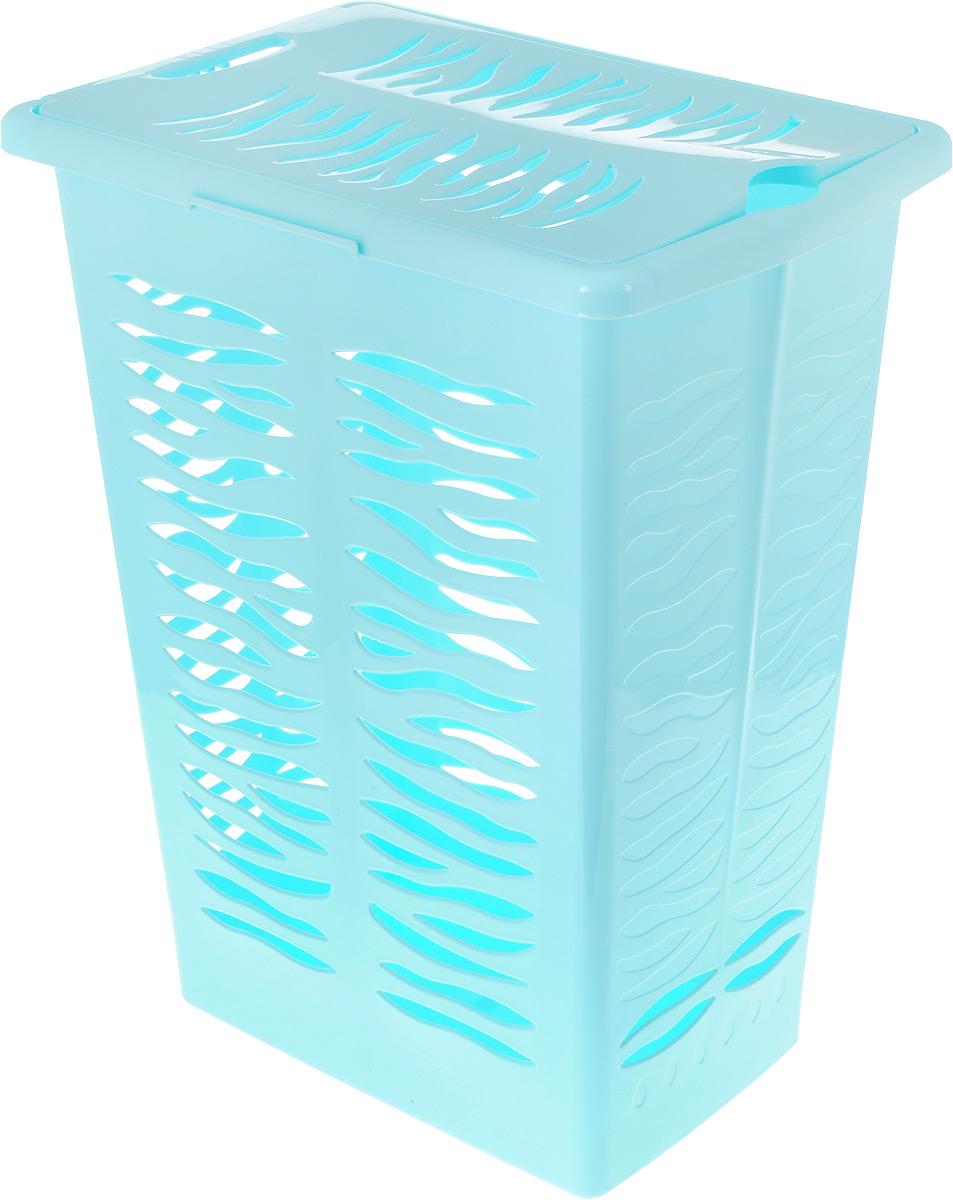 Корзина для белья BranQ Aqua, цвет: бирюзовый, 30 лBQ1706БРЗКорзина для белья BranQ Aqua изготовлена из прочного полипропилена и оформлена перфорированными отверстиями, благодаря которым обеспечивается естественная вентиляция.Благодаря широкому канту по верхним краям корзины, ее легко поднимать и держать в руках.Корзина оснащена крышкой и ручкой для переноски. На крышке имеется выемка для удобного открывания крышки.Такая корзина для белья прекрасно впишется в интерьер ванной комнаты. Размер корзины: 38 х 26 х 48 см, Объем: 30 л.