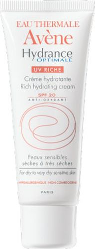 Avene Крем увлажняющий защищающий Hydrance ОПТИМАЛЬ UV20 РИШ для сухой кожи лица 40 млC20629Ежедневное увлажнение для сухой и очень сухой обезвоженной чувствительной кожи.Свойства: основываясь на результатах исследованийидеального увлажнения глаза, Дерматологические лаборатории Avene разработали формулу интенсивного и длительного увлажнения кожи*. Крем обогащен Термальной водой Avene.Результат: мгновенное и интенсивное увлажнение, оптимальный комфорт и восстановление кожи. Гидранс Оптималь UV 20Риш - увлажняюшийкрем с насыщенной текстурой, обеспечивает коже эластичность и бархатистость. * Верхние слои кожи.
