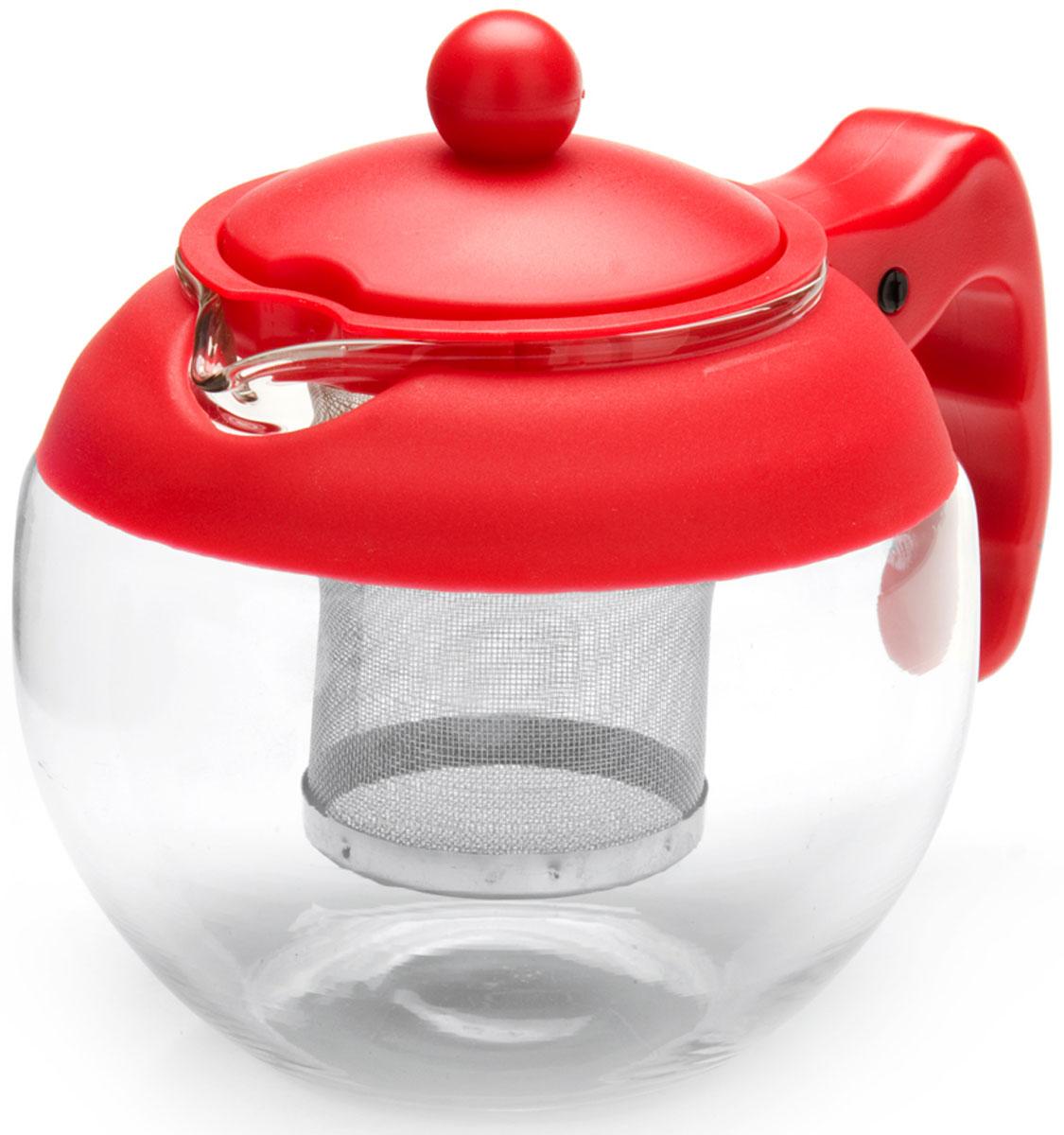 Чайник заварочный Mayer & Boch, с фильтром, цвет: красный, 750 мл. 26174-126174-1Заварочный чайник Mayer & Boch изготовлен из термостойкого боросиликатного стекла, фильтр выполнен из нержавеющей стали. Изделия из стекла не впитывают запахи, благодаря чему вы всегда получите натуральный, насыщенный вкус и аромат напитков. Заварочный чайник из стекла удобно использовать для повседневного заваривания чая практически любого сорта. Но цветочные, фруктовые, красные и желтые сорта чая лучше других раскрывают свой вкус и аромат при заваривании именно в стеклянных чайниках, а также сохраняют все полезные ферменты и витамины, содержащиеся в чайных листах. Стальной фильтр гарантирует прозрачность и чистоту напитка от чайных листьев, при этом сохранив букет и насыщенность чая.Прозрачные стенки чайника дают возможность насладиться насыщенным цветом заваренного чая. Изящный заварочный чайник Mayer & Boch будет прекрасно смотреться в любом интерьере. Подходит для мытья в посудомоечной машине.