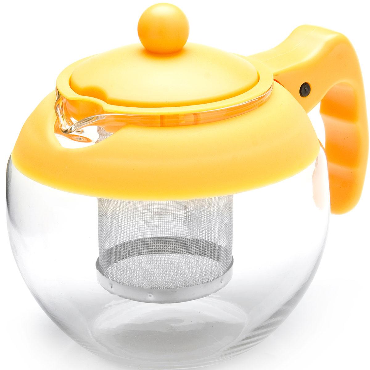 Чайник заварочный Mayer & Boch, с фильтром, цвет: желтый, 750 мл. 26174-226174-2Заварочный чайник Mayer & Boch изготовлен из термостойкого боросиликатного стекла, фильтр выполнен из нержавеющей стали. Изделия из стекла не впитывают запахи, благодаря чему вы всегда получите натуральный, насыщенный вкус и аромат напитков. Заварочный чайник из стекла удобно использовать для повседневного заваривания чая практически любого сорта. Но цветочные, фруктовые, красные и желтые сорта чая лучше других раскрывают свой вкус и аромат при заваривании именно в стеклянных чайниках, а также сохраняют все полезные ферменты и витамины, содержащиеся в чайных листах. Стальной фильтр гарантирует прозрачность и чистоту напитка от чайных листьев, при этом сохранив букет и насыщенность чая.Прозрачные стенки чайника дают возможность насладиться насыщенным цветом заваренного чая. Изящный заварочный чайник Mayer & Boch будет прекрасно смотреться в любом интерьере. Подходит для мытья в посудомоечной машине.