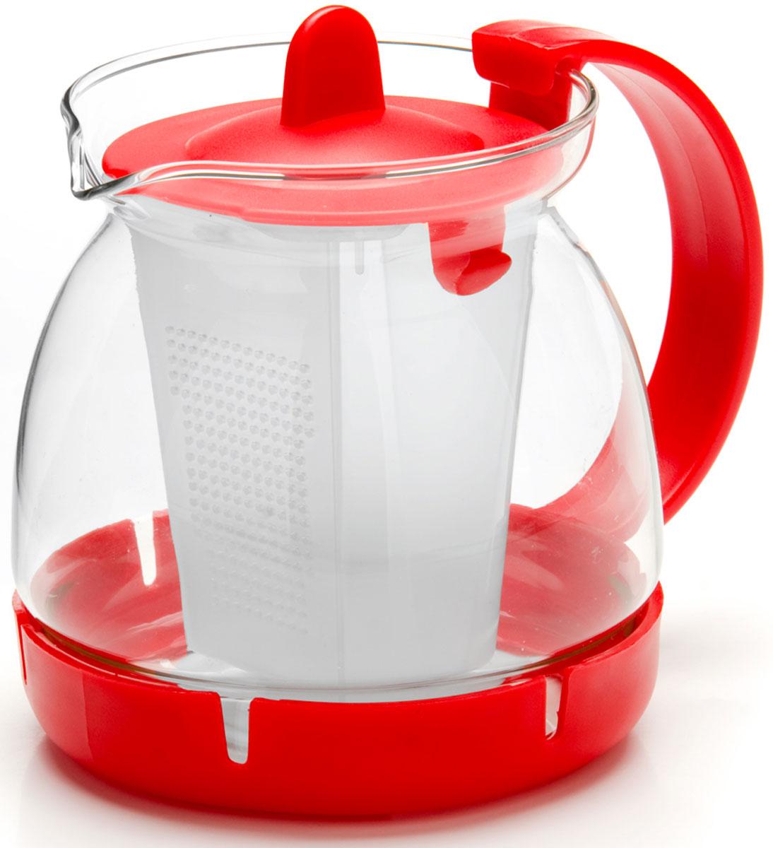 Чайник заварочный Mayer & Boch, с фильтром, 0,8 л. 26175-126175-1Заварочный чайник изготовлен из термостойкого боросиликатного стекла, фильтр выполнены из полипропилена. Изделия из стекла не впитывают запахи, благодаря чему вы всегда получите натуральный, насыщенный вкус и аромат напитков. Фильтр гарантирует прозрачность и чистоту напитка от чайных листьев, при этом сохранив букет и насыщенность чая. Подходит для мытья в посудомоечной машине.Объем чайника: 800 мл.