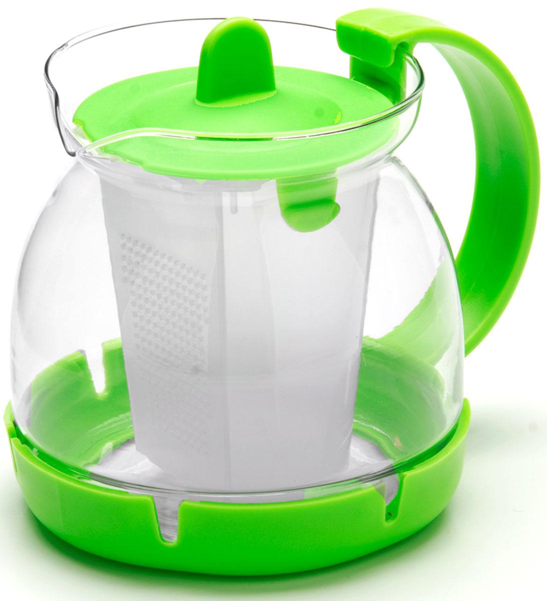 Чайник заварочный Mayer & Boch, с фильтром, 0,8 л. 26175-326175-3Заварочный чайник изготовлен из термостойкого боросиликатного стекла, фильтр выполнены из полипропилена. Изделия из стекла не впитывают запахи, благодаря чему вы всегда получите натуральный, насыщенный вкус и аромат напитков. Фильтр гарантирует прозрачность и чистоту напитка от чайных листьев, при этом сохранив букет и насыщенность чая. Подходит для мытья в посудомоечной машине.Объем чайника: 800 мл.