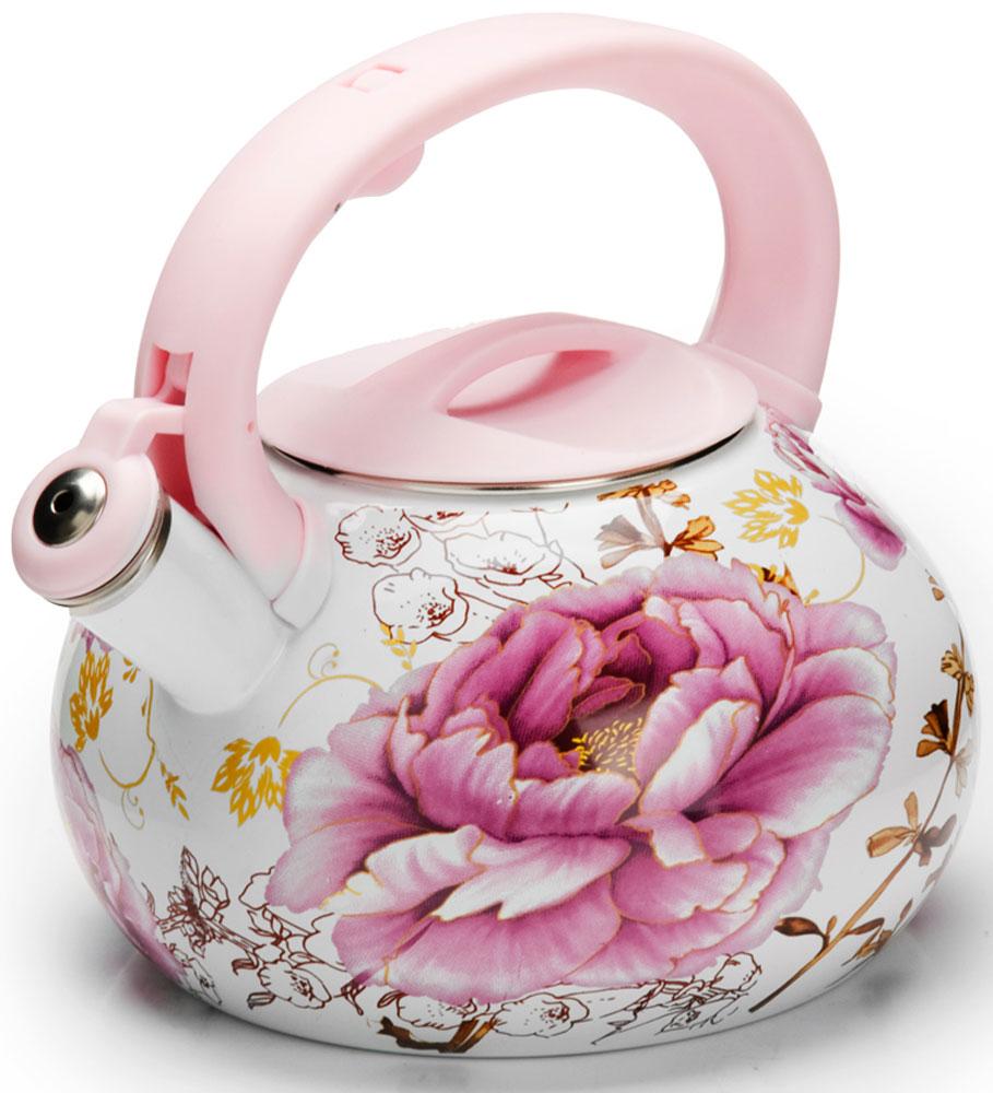 Чайник Mayer & Boch Цветы, со свистком, 3 л. 26485 gipfel чайник для кипячения воды visit 2 7 л