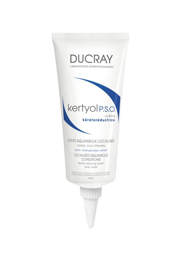 Ducray Крем Kertyol P.S.O. уменьшающий шелушение кожи, 100 млC39343Крем Kertyol P.S.O. (Кертиоль П.С.О.) рекомендован при сильном шелушении кожи головы, а также локальных чешуйчатых бляшках на теле (локти, колени). Крем устраняет шелушение, регулирует десквамацию и снимает покраснение. Сбалансированная формула крема Кертиоль П.С.О. помогает размягчить чешуйчатые бляшкии уменьшить шелушение, при этом обеспечивая хорошую переносимость. Основные компоненты:МИКРОНИЗИРОВАННАЯ СЕРА – признанный кераторегулирующий ингредиент,уменьшает толщину чешуйчатой бляшки и способствует удалению хлопьевидных чешуек. ГЛИКОЛИЕВАЯ КИСЛОТА нормализует процесс отшелушивания и усиливает действие микронизированной серы.КЕРТИОЛЬ быстро и надолго уменьшает зуд и покраснение. ГЛИЦЕРИН смягчает и увлажняет верхние слои кожи благодаря его смягчающим свойствам.