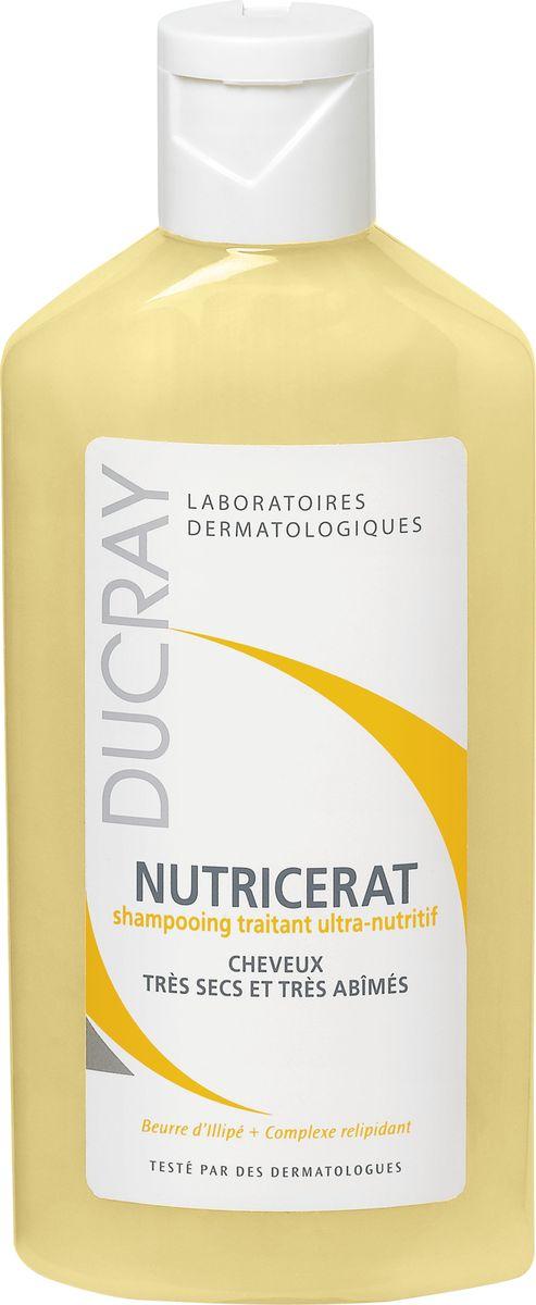 Ducray Сверхпитательный шампунь Nutricerat, 200 млC17866Сверхпитательный шампунь Nutricerat (Нутрицерат) разработан специально для очень сухих и поврежденных волос. Интенсивно питает волосы благодарявходящему состав маслу Иллипа. Шампунь насыщает волосы всеми необходимыми веществами для восстановления волос. Релипидирующий комплекс (натурального происхождения) восстанавливает и защищает волосяной стержень. Очищающая основа шампуня делает Ваши волосы мягкими и блестящими. Шампунь обладает кремовой текстурой и нежным ароматом. Разработан и протестирован под контролем дерматологов. Высокая степень переносимости.