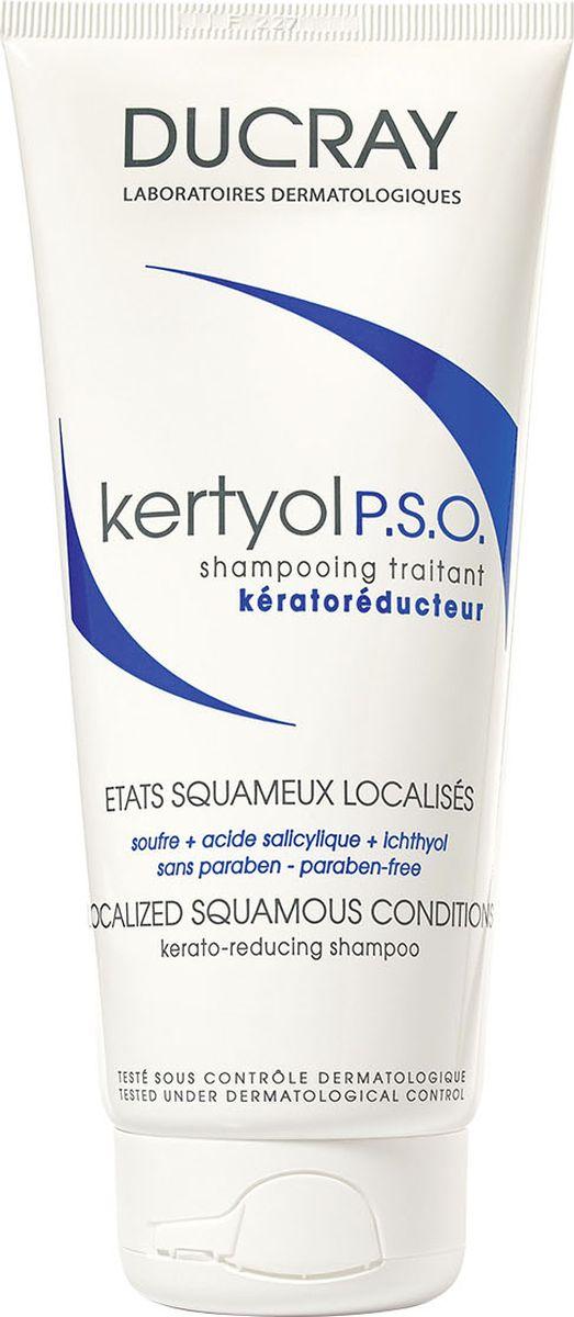 Ducray P.S.O. Шампунь Kertyol уменьшающий шелушение кожи головы 125 млC29349Шампунь Kertyol P.S.O. (Кертиоль П.С.О.) эффективно устраняет факторы, провоцирующие образование участков гиперкератоза волосистой части головы. Уменьшает бляшки, снимает зуд, покраснение и шелушение за счет входящего в состав уникального комплекса компонентов. Основные компоненты: МИКРОНИЗИРОВАННАЯ СЕРА – известный кераторегулирующий ингредиент,уменьшает толщину чешуйчатой бляшки и способствует удалению хлопьевидных чешуек.САЛИЦИЛОВАЯ КИСЛОТА – кератолитик, дополняет действие серы, удаляя чешуйки с кожи.КЕРТИОЛЬ быстро и надолго уменьшает зуд и покраснение.Благодаря мягкой моющей основе, шампунь Кертиоль П.С.О.хорошо переносится и приятен в использовании. Может использоваться самостоятельно или в комплексе с лекарственными средствами, назначенными дерматологом.